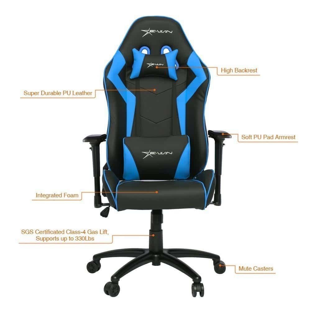 ewin gaming chair graph